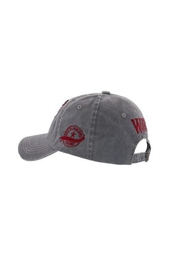Laslusa W Beyzbol Cap Şapka Gri